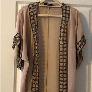 Ark & co beaded kimono wrap size small